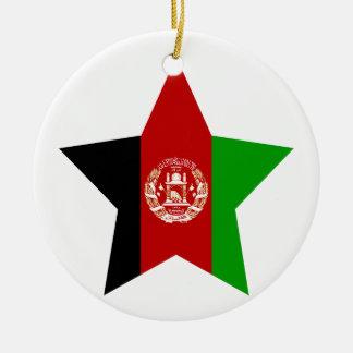Afghanistan Star Christmas Ornament