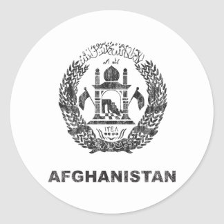 Afghanistan Round Stickers