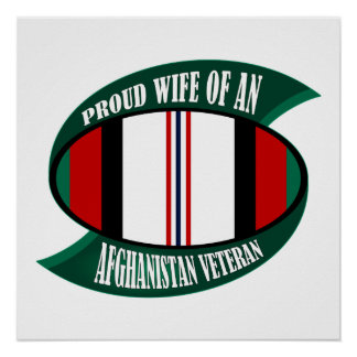 Afghanistan Vet Wife Poster