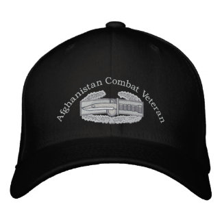 Afghanistan Veteran Combat Action Badge Hat Baseball Cap