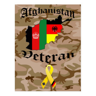 Afghanistan veteran German Postcard