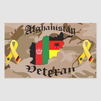 Afghanistan veteran German Rectangle Sticker