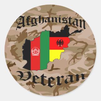 Afghanistan veteran German Round Sticker