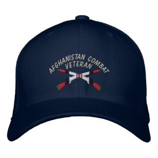 Afghanistan Veteran Infantry Crossed Rifles Hat Embroidered Hat