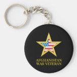 Afghanistan War Veteran Basic Round Button Key Ring
