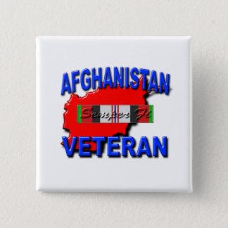 Afghanistan War Veteran Service Ribbon 15 Cm Square Badge