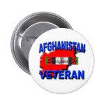 Afghanistan War Veteran Service Ribbon Pinback Buttons