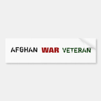 AFGHANISTAN WAR VETERANS BUMPER STICKER
