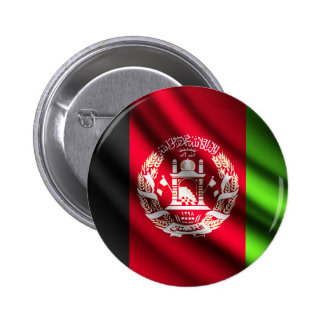Afghanistan waving flag pinback button