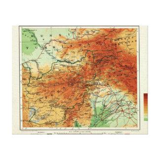 AfghanistanPanoramic MapAfghanistan Canvas Print