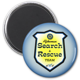 Afikoman Search & Rescue Team 6 Cm Round Magnet