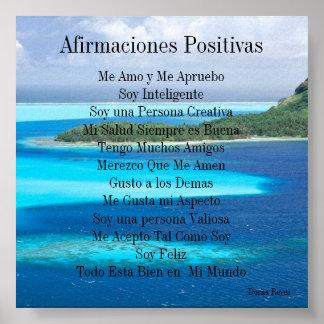 Afirmaciones Positivas Poster