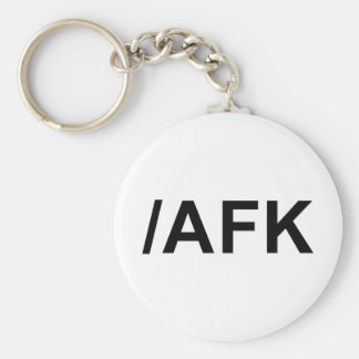 /AFK - Away From Keyboard Basic Round Button Key Ring