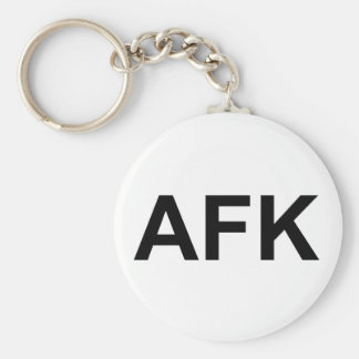 AFK BASIC ROUND BUTTON KEY RING