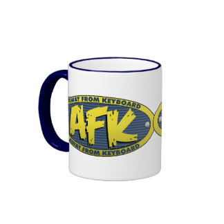 AFK Blue Mug