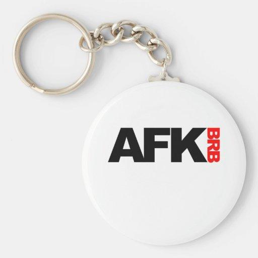 afk brb keychains