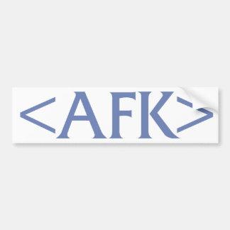 AFK BUMPER STICKERS