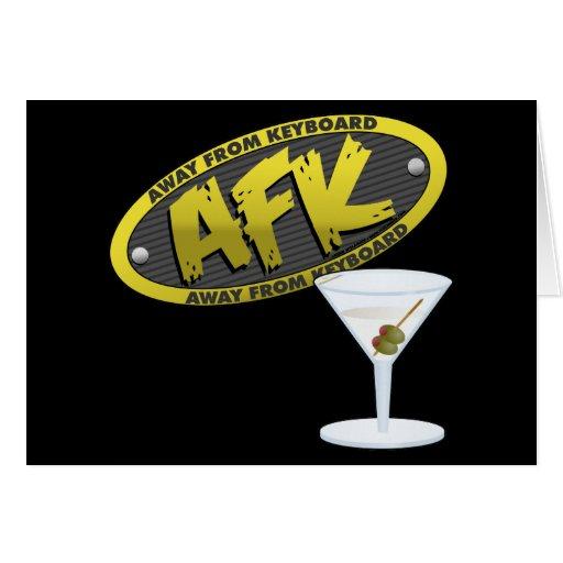 AFK Martini Card