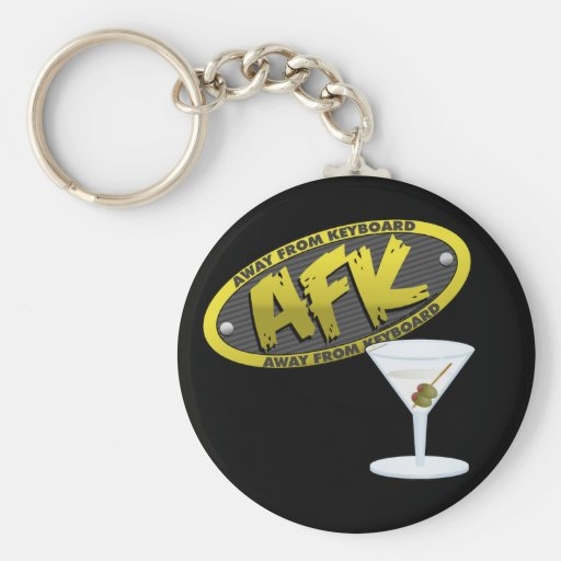 AFK Martini Keychain