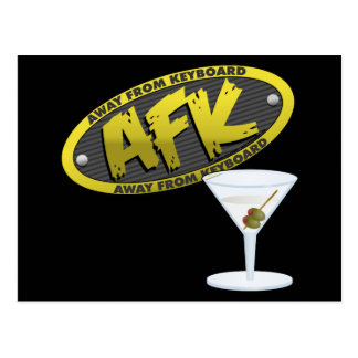 AFK Martini Postcard