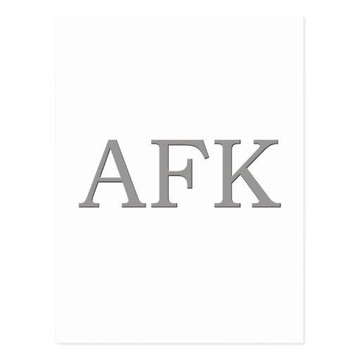 AFK POSTCARDS
