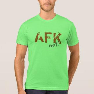 AFK T-shirt orange grey