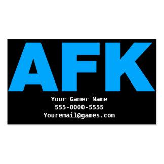AFK Video Game Gamer Business Cards