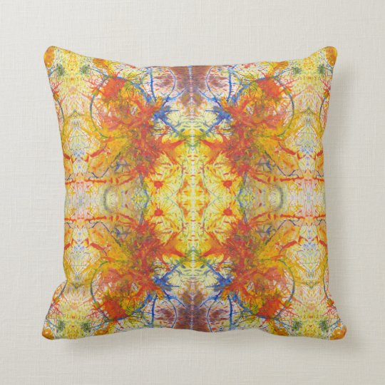 Aflame with Flower Acrylic Art Quad Cushion