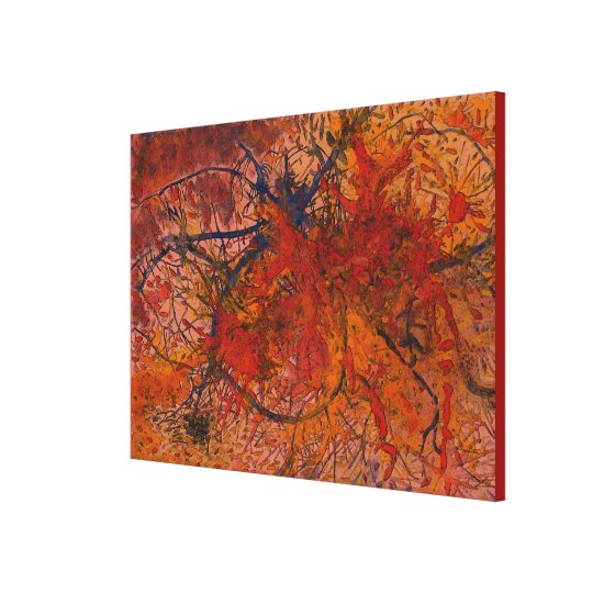 Aflame with Flower Art HotWaxed for Texture Canvas