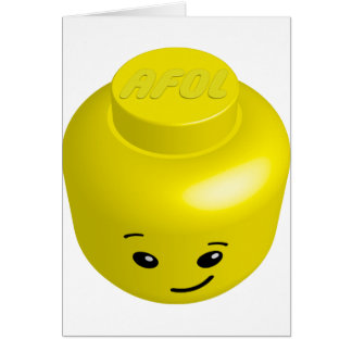 AFOL minifig head Card