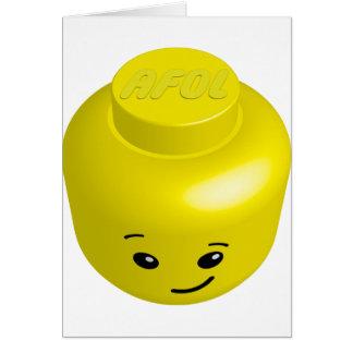 AFOL minifig head Greeting Card