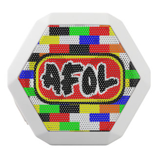AFOL with colourful brick blackground