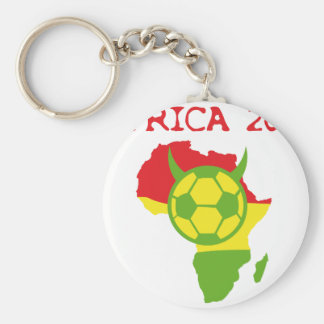 africa 2010 basic round button key ring
