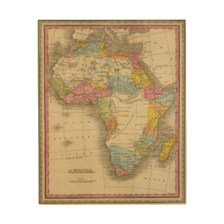 Africa 27 wood canvas