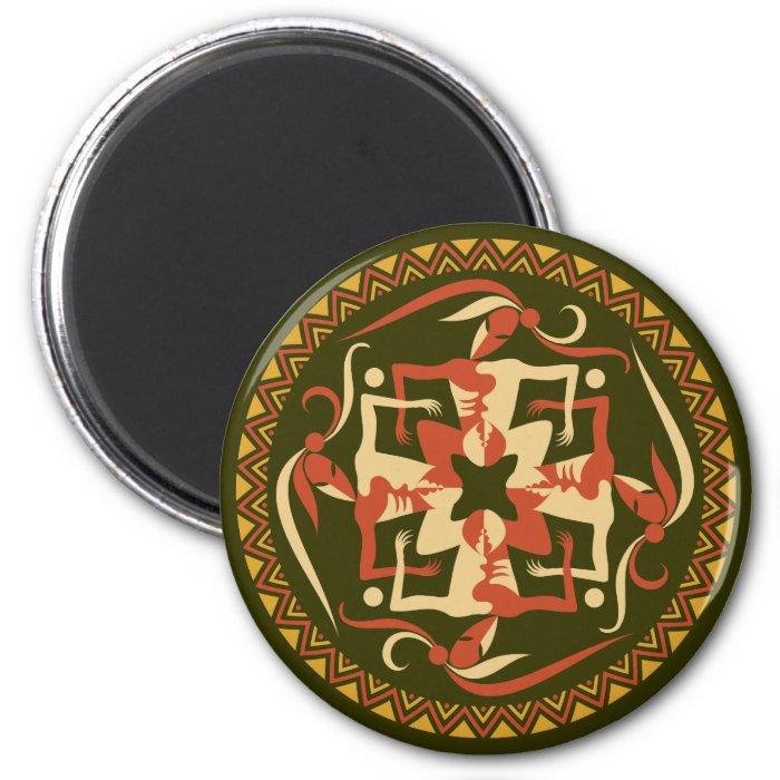 africa 6 cm round magnet