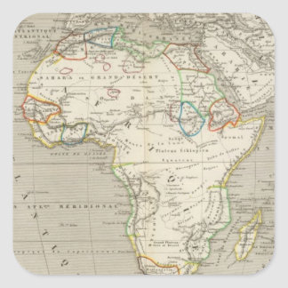 Africa 8 square sticker
