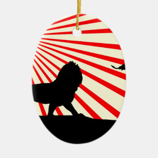 Africa abstract. christmas ornament