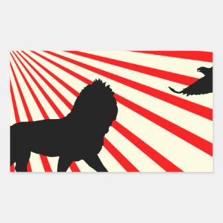 Africa abstract. rectangular sticker