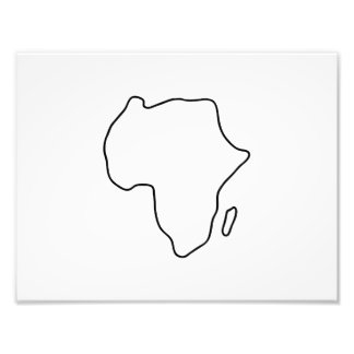 Africa African continent map Photo Art