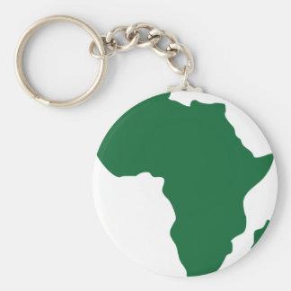 Africa / Afrique Basic Round Button Key Ring