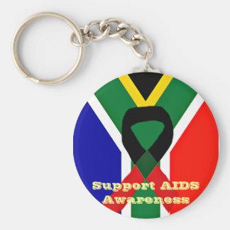 Africa,AIDS Awareness_ Basic Round Button Key Ring