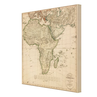 Africa and Asia Canvas Print