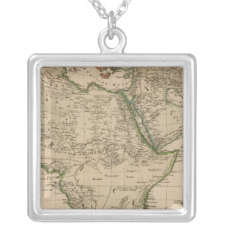 Africa and Asia Silver Plated Necklace