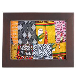 Africa, Angola, Benguela. Brightly Colored Pants Keepsake Box