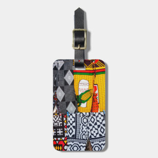 Africa, Angola, Benguela. Brightly Colored Pants Luggage Tag