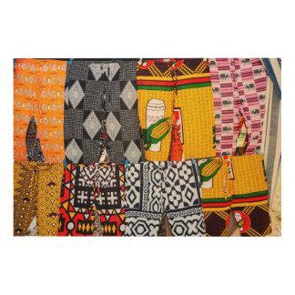 Africa, Angola, Benguela. Brightly Colored Pants Wood Prints
