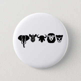 Africa animals big five 6 cm round badge