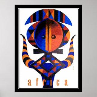 Africa Art deco vintage Poster 2