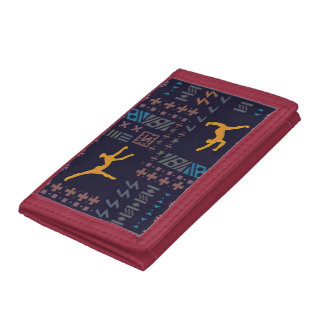 Africa art: Traditional African dancers Tri-fold Wallet