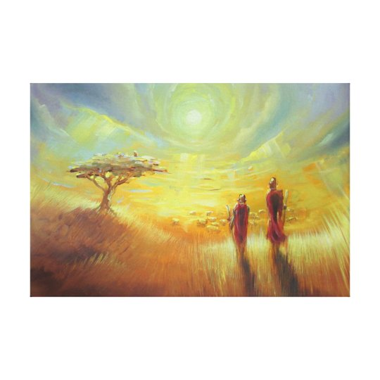 Africa - Artist: Smeet K. Gusani Canvas Print